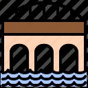 bridge, overpass, platform, transit, viaduct icon
