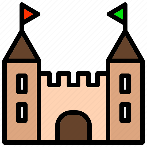 Building, castle, fortress, large, palace, rook icon - Download on Iconfinder