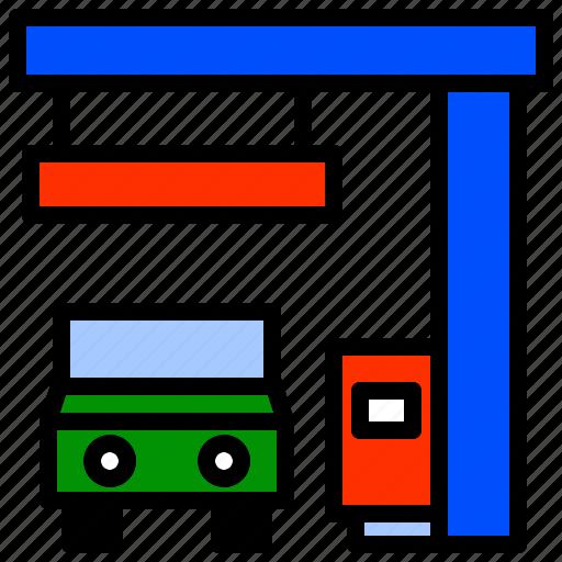 filling, garage, gas, gasoline, service, station icon