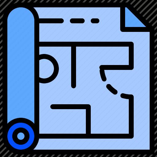 architecture, design, floor, interior, plan, sketch icon