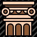 architecture, column, greek, pilar, structure