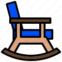 chair, furniture, rocking, seat, tabouret icon