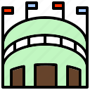 amphitheater, arena, building, gymnasium, stadium icon