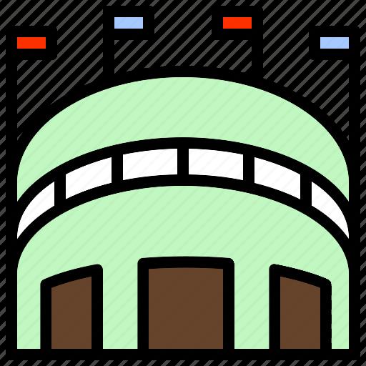 amphitheater, arena, building, gymnasium, stadium icon