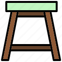 bench, chair, seat, stool, tabouret icon