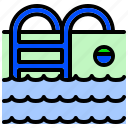 pool, recreational, relax, sports, swimming, water icon