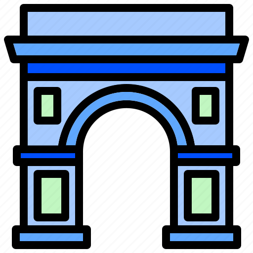 Arch, architecture, emblematic, historic, iconic, triumphal icon - Download on Iconfinder