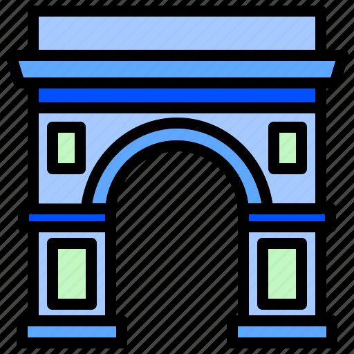 arch, architecture, emblematic, historic, iconic, triumphal icon