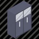 almirah, cabinet, cloth almirah, clothes cabinet, cupboard, wardrobe icon
