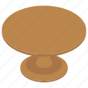 furniture, indoor table, room interior, room table, round dinner table, study table icon