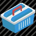 grocery bucket, hamper, picnic basket, shopping basket, shopping bucket icon