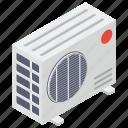 ac, ac cooling fan, ac fan, ac outdoor, air conditioner, split ac fan icon