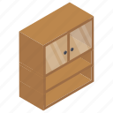 cabinet, chest drawer, compact drawer, drawer, dresser, file box, office drawer icon