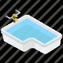 bathroom tub, bathtub, jacuzzi, shower tub, water bathtub icon