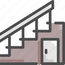 building, furniture, home, house, interior, stair, staircase icon
