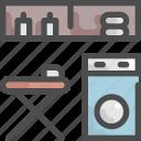 clean, furniture, house, interior, iron, machine, washing icon
