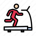 running, machine, gym, exercise, treadmill icon