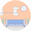 couch, furniture, home decor, interior, lounge, sofa icon