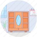 dresser, dressing table, furniture, mirror table, vanity icon