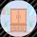 closet, cupboard, furniture, interior design, wardrobe icon