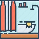 bath, bathroom, contemporary, modern, sanitary, shower, washroom icon