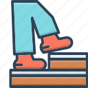 footpace, footstep, stairs, steps, walk icon
