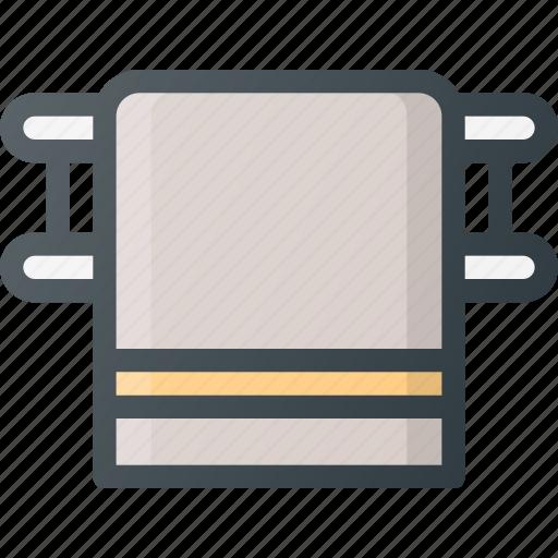 accessory, bathroom, dryer, holder, interior, towel icon