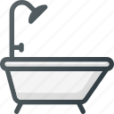 bath, bathroom, bathtub, interior, shower icon