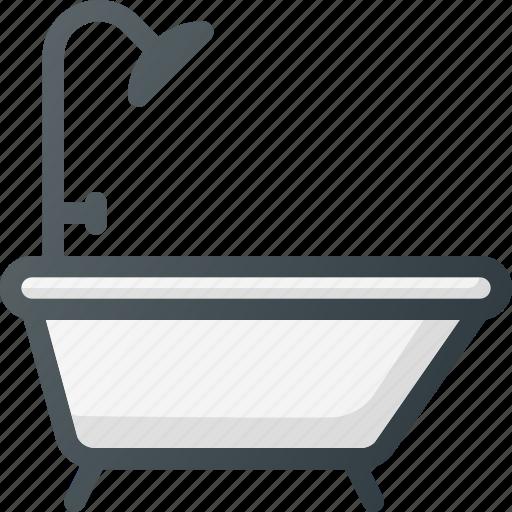 bath, bathroom, bathtub, interior, shower icon