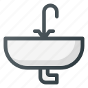 bathroom, interior, sink, tap, wash icon