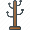 coat, furniture, hanger, hat, interior, rack icon