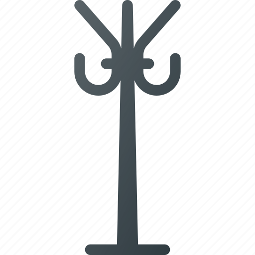 coat, furniture, hanger, hat, interior, rack icon