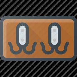 coat, hanger, hat, holder, interior, keychain, rack icon
