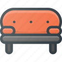 couch, furniture, interior, seat, sofa icon