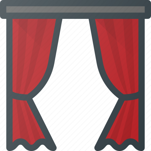 curtain, decoration, home, household, interior icon