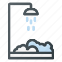 bathroom, cabin, interior, shower icon