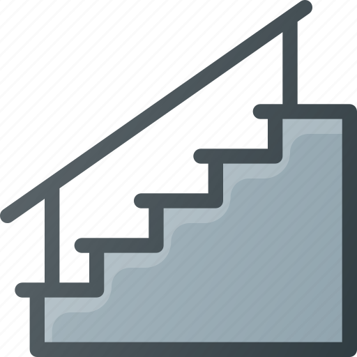 interior, staircase, stairs icon