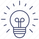 bulb, idea, light, spherical