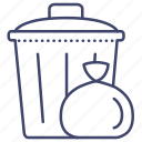 can, garbage, household, trash