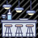 bar, chair, club, interior icon