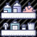 basket, shelf, bathroom, shower icon