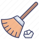 broom, tool, clean, duster icon