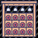 cabinet, rack, shelf, wine icon
