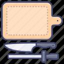 board, chopping, kitchen, knife icon