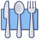 cutlery, knife, fork, spoon icon
