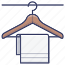 clothes, clothing, hanger, towel icon