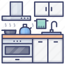 cook, cooker, interior, kitchen icon