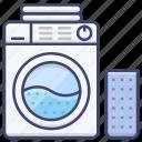 basket, laundry, machine, washing icon