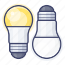 bulb, led, light, temperature icon