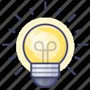 bulb, idea, light, spherical icon